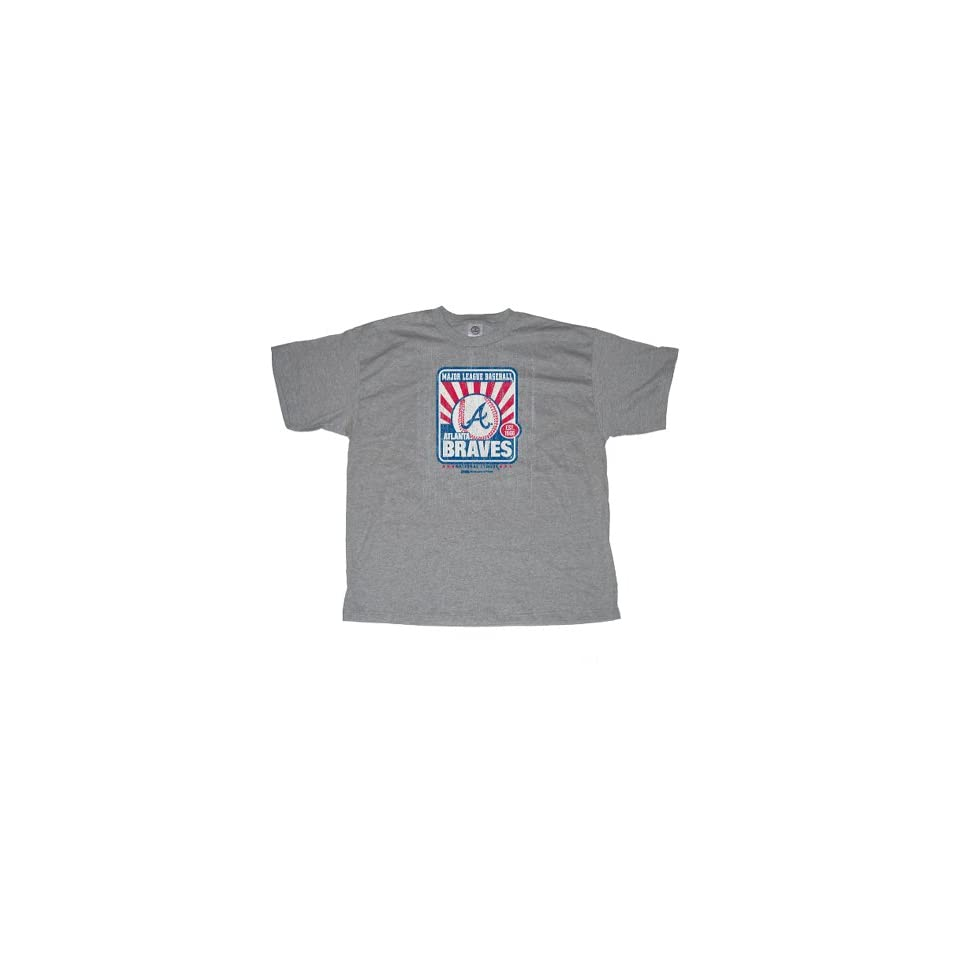 Stitches Athletic Gear Atlanta Braves Adult T Shirt On Popscreen