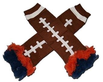 """CHICAGO BEARS - Tutu Chiffon Ruffle Leg Warmers - AMERICAN FOOTBALL (TOUCH DOWN) - """"BubuBibi"""""""