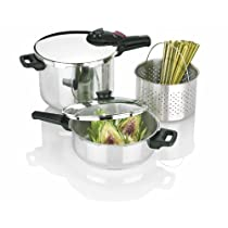 Fagor 2-by-1 Splendid 5-Piece Pressure Cooker Set