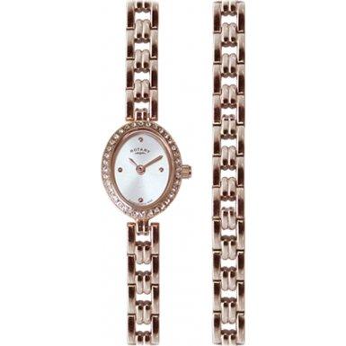 Rotary LB02769/BR/41 Ladies' Rose Gold Tone Watch/Bracelet Gift Set
