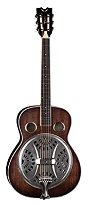 Dean Guitars RES SAO Antique Natural Distressed Oil Finish Resonator Spider Steel Guitar