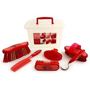 Desert Equestrian Inc - Equestria Sport Grooming Essentials Set- Red 7 Piece