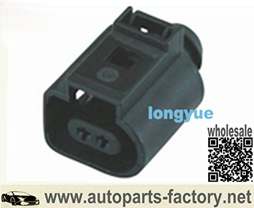 1J0 973 702 2-Way Brake Pad Sensor Connector 02-05 VW Jetta Golf GTI Plug Conector 1J0973702 (02 Sensor Conector compare prices)