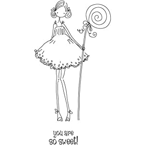 Unmounted Rubber Stamp Uptown Girl Claudia Has A Candy: Home & Kitchen
