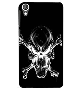 HTC DESIRE 820 SKULL Back Cover by PRINTSWAG