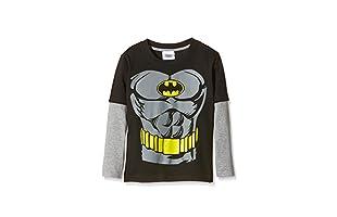 DC COMICS Camiseta Manga Larga Batman Torso (Negro / Gris)