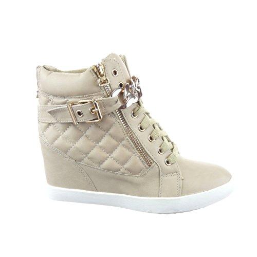Baskets Mode compensée femmes Sopily Cheville 9 Chaussure 0xqEtA