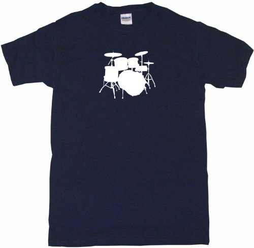Drum Set Logo Drumset Kids Tee Shirt Youth Medium-Light Blue