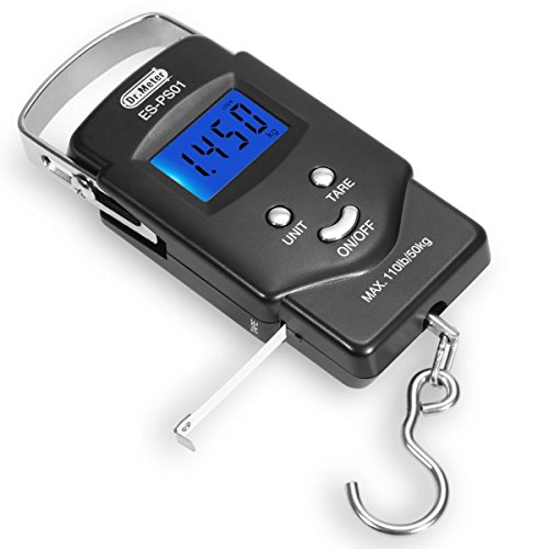 Backlit-LCD-DisplayDrMeter-ES-PS01-110lb50kg-Electronic-Balance-Digital-Fishing-Postal-Hanging-Hook-Scale-with-Measuring-Tape-2-AAA-Batteries-Included