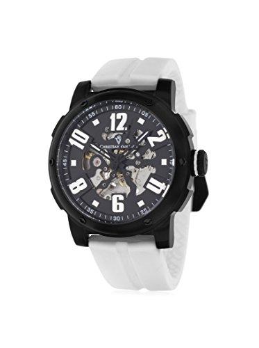 Christian Van Sant Men's CV6130 Skeleton Black/Black Rubber Watch