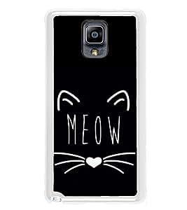 Meow 2D Hard Polycarbonate Designer Back Case Cover for Samsung Galaxy Note 3 :: Samsung Galaxy Note III :: Samsung Galaxy Note 3 N9002 :: Samsung Galaxy Note N9000 N9005