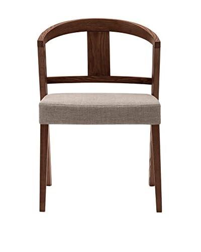 Domitalia Gea Chair, Taupe/Chocolate
