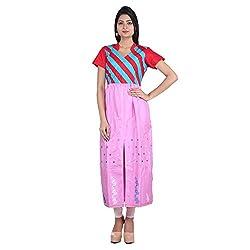 Indian Artizans Strawberry Fingers Assam Silk Long kurta
