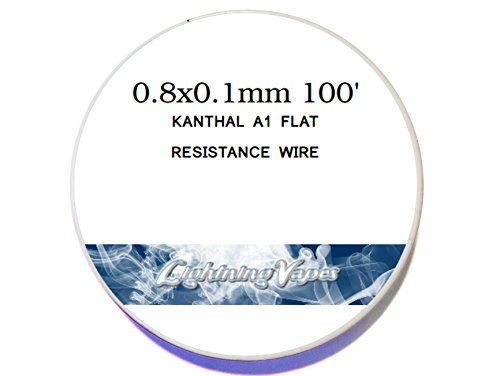 Kanthal Flat Ribbon A-1 Wire 50Ft Roll 0.8Mm X 0.1Mm , 5.76 Ohms/Ft Resistance