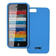 EMPIRE Apple IPhone 5 Hard Case Light Blue Rubberized Snap-On Hard Cover Case