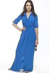 Divaat Azul Claro Crepe Maxi Dress