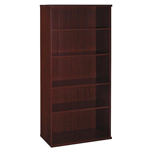 Series C:36-inch W 5-Shelf Bookcase Storage Mahogany 5 Shelf Bookcase