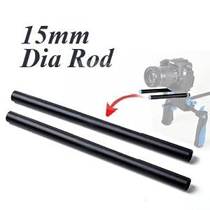 CowboyStudio 2 x 15mm Length 300mm Rail Rod f Rig System Follow Focus Rig DSLR