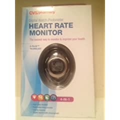 Buy CVS 4-in-1 Heart Rate Monitor  Pedometer  Calorie Counter  Chronographer - Large by CVS