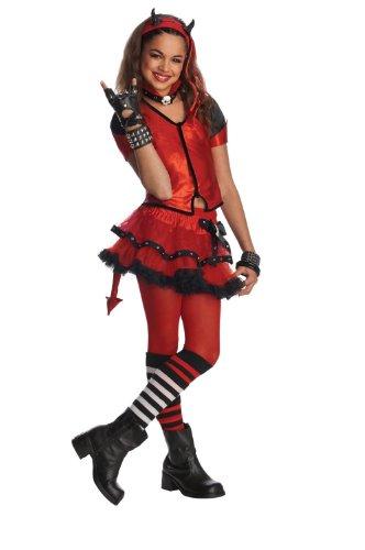 [Drama Queens Child Devilish Costume - Red Devil Costume WB ( (8-10 yrs)] (Red Devil Child Costume)