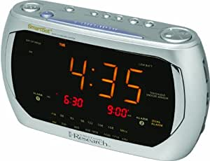 Emerson Radio Jumbo Triple Display Dual Alarm AM/FM Clock Radio with SmartSet Technology (Discontinued by Manufacturer)