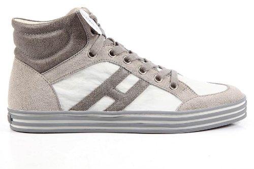 Hogan scarpe sneakers alte uomo in camoscio rebel