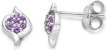 Byjoy 925 Sterling Silver Amethyst Stud Earrings BAE024E