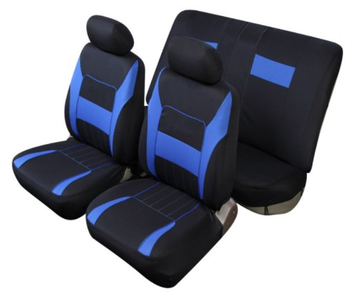 Sitzbezug Schonbezug T 2 blau Dacia Logan Sandero