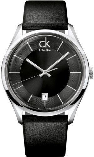 Calvin Klein Quartz Leather Band Black Dial Men's Watch - K2H21102