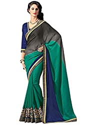 coolwomen women's georgette embroidered free size fancy saree-cw_cwRGNA6038_multicolor_free size