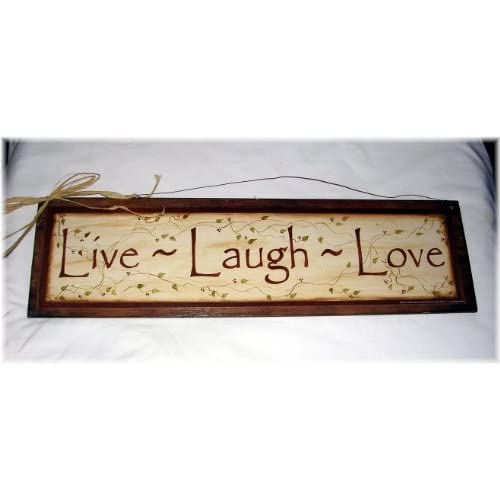 Live Laugh Love Wooden Wall Art Sign Ivy Vine