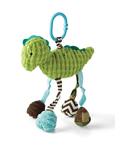 Mud Pie Dino Stroller Toy, Light Green