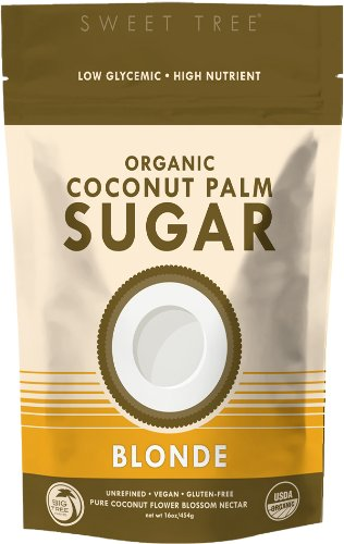 Big Tree Farms SweetTree Organic Coconut Palm Sugar, Blonde, 16-Ounce Pouches (Pack of 6)
