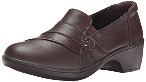 Skechers Women's Flexibles Vamp Dress Pump, Chocolate Leather, 7.5