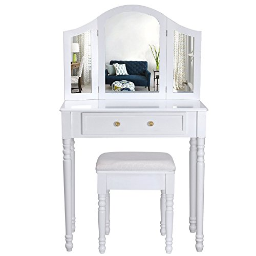 songmics-chic-3-foldable-mirrors-dressing-table-set-with-white-stool-1-big-drawer-for-cosmetics-made