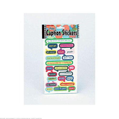 24 Packs of Assorted Photo Caption Stickers