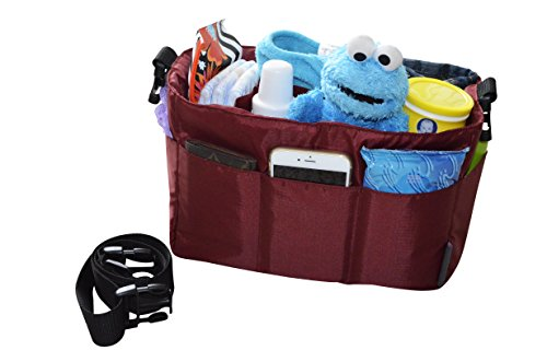 diaper-bag-insert-organizer-for-stylish-moms-burgundymore-color-options-available-12-pockets-turn-yo