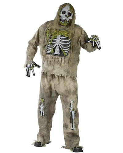 Fun World Men's Skeleton Zombie Costume Multicoloured One Size