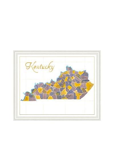Art Source Watercolor Kentucky Map
