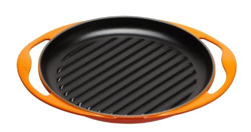 Le Creuset Cast Iron Round Grillit, Volcanic, 26 cm