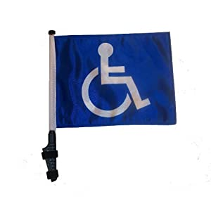 Handicap Golf Cart Flag with EZ On and Off Bracket