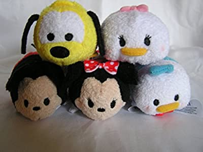 Mickey Mouse Minnie Mouse Donald Duck Daisy Duck & Pluto Tsum Tsum 5 Pcs Set for Sale