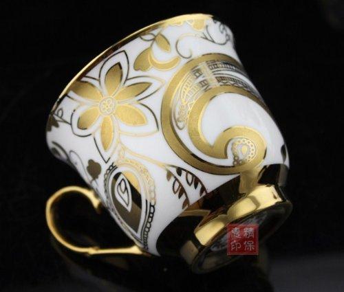 ufengkeWhite And Gold Flower 13 European Retro Titanium Ceramic Tea Set Tea Service For Wedding 1