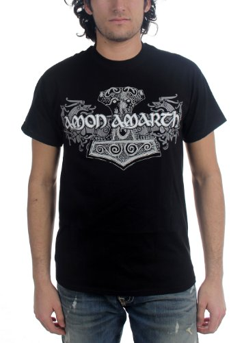 Amon Amarth - Uomo Viking Horses T-Shirt In Nero, X-Large, Nero
