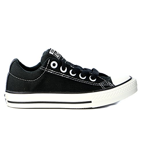 CONVERSE Kids' Chuck Taylor Street Low Top Sneaker Pre/Grade School (Black 3.5 M)