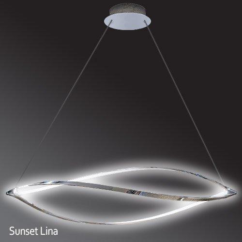 Lu mi led pendelleuchte h henverstellbar k chen for Deckenlampe led modern