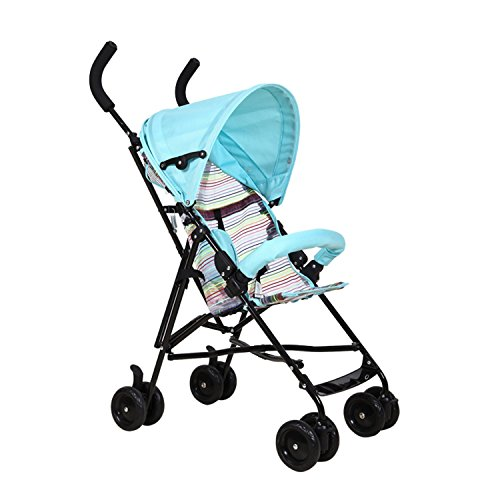 High-density-handle-bar-safety-protection-Portable-stroller-sky-blue