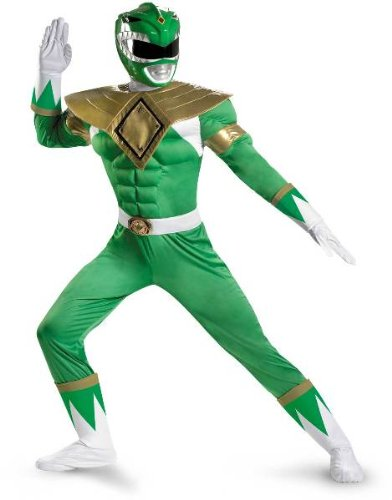 Power Rangers Green Ranger Classic Muscle Adult Plus Costume, Green, Xx-Large