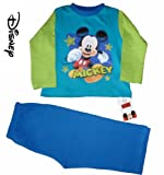 Cool Disney Mickey Mouse Green and Blue Long Pyjamas 1-4 Years