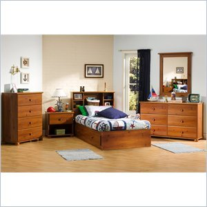 Cheap South Shore Sand Castle Kids Twin Wood Mates Storage Bed 5 Piece Bedroom Set in Sunny Pine (3642-PKG)